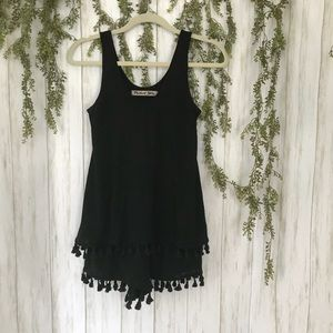 Michael Stars Layered Black Romper Size XS